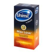 Unimil Max Love, prezerwatywy, 12 szt.