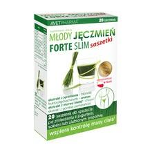 Młody Jęczmień Forte Slim, proszek w saszetkach, 20 szt.