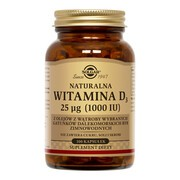 Solgar Naturalna Witamina D3 25 µg (1000 IU), kapsułki, 100 szt.