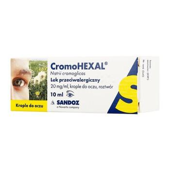 Cromohexal, 20 mg/ml, krople do oczu, 10 ml