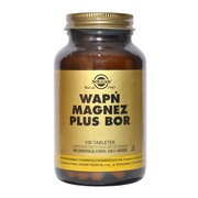 Solgar Wapń Magnez plus Bor, tabletki, 100 szt.