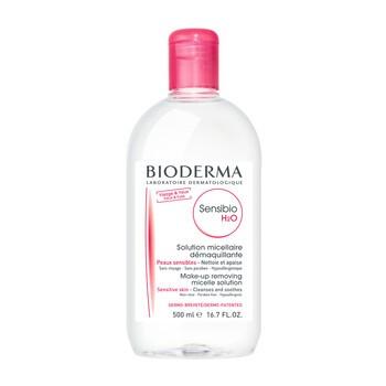 Bioderma Sensibio H20, płyn micelarny do oczyszczania twarzy i demakijażu, 500 ml