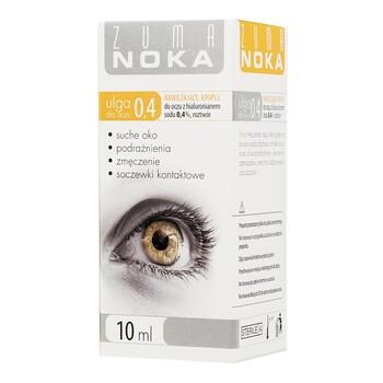 Zuma Noka 0.4 ulga dla oczu, krople do oczu z hialuronianem 0,4%, 10 ml