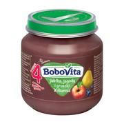 BoboVita, deser jabłka, jagody i gruszki Williamsa, 4m+,125 g