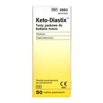 Test paskowy Ketodiastix, 50 pasków