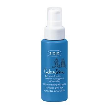 Ziaja GdanSkin, woda&skóra, serum multinawilżające, booster anti-age, wygładza zmarszczki, 50 ml