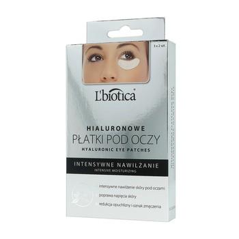 L`Biotica, hialuronowe płatki pod oczy, intensywne nawilżanie, 3 x 2 szt.