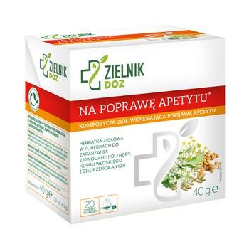 ZIELNIK DOZ Na poprawę apetytu, herbatka ziołowa, 2 g, 20 szt.
