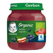 Gerber Organic, deser jabłko, jagoda, 4 m+, 125 g