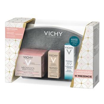 Zestaw Promocyjny Vichy, Neovadiol Rose Platinum, 50 ml + Mineral 89, 10 ml + Neovadiol Rose Platinum, 3ml + kosmetyczka