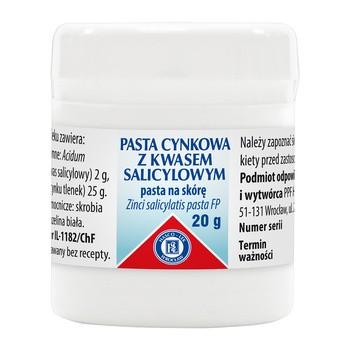 Pasta cynkowa z kwasem salicylowym (Pasta Lassara), 20 g (Hasco)