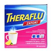 Theraflu Zatoki, 650 mg+10 mg, proszek w saszetkach do sporządzania roztworu doustnego,10 szt.