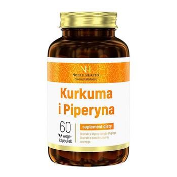 Kurkuma i Piperyna, kapsułki, (Noble Health), 60 szt.