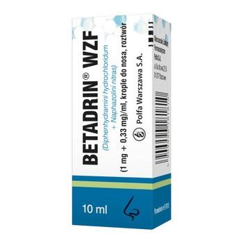 Betadrin WZF, krople do nosa, 10 ml