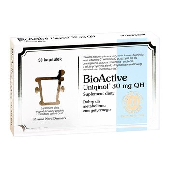 Bio Active Uniqinol 30 mg QH, kapsułki, 30 szt.