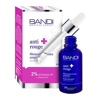 Bandi Medical Expert Anti-Rouge, skoncentrowana ampułka na naczynka, 2% witamina PP + witamina K, 30 ml