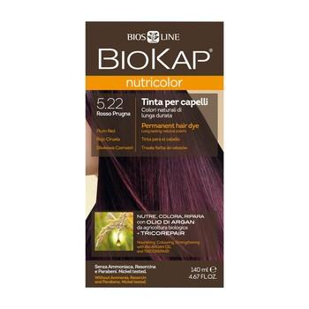 Biokap Nutricolor, farba do włosów, 5.22 śliwkowa czerwień, 140 ml