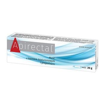 Apirectal, maść z kwasem hialuronowym i propolisem, 20 g
