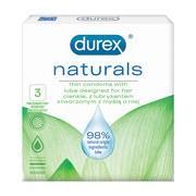 Durex Naturals, prezerwatywy,  3 szt.