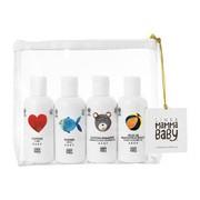 Linea MammaBaby, zestaw kosmetyków Mammababy, mydło + płyn do kąpieli + szampon i żel pod prysznic + migdałowy olejek do ciała, 4 x 100ml