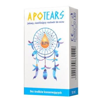 ApoTears, jałowy, nawilżający roztwór do oczu, 0,2%, 10 ml