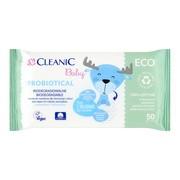 Cleanic Baby Probiotical, chusteczki nawilżane dla niemowląt i dzieci, 50 szt.