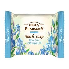 Green Pharmacy, mydło w kostce, niebieski irys i olejek arganowy, 100 g