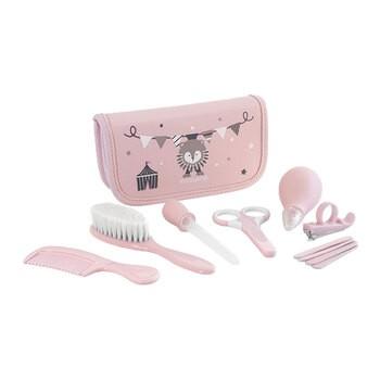 Zestaw akcesoriów do pielęgnacji dziecka, różowy