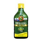 Mollers Gold Tran Norweski, płyn o smaku cytrynowym, 250 ml