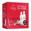 Zestaw Promocyjny Seboradin Przeciw wypadaniu włosów, szampon, 200 ml + ampułki, 14 x 5,5 ml + balsam, 200 ml GRATIS