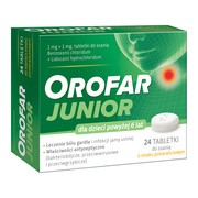 Orofar Junior (Orofar Total Action), tabletki do ssania, 24 szt.
