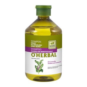 O`Herbal, szampon kojący z ekstraktem z lukrecji dla wrażliwej skóry głowy, 500 ml