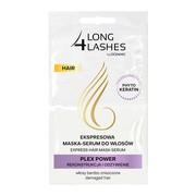 Long 4 Lashes, ekspresowa maska serum do włosów z fitokeratyną PLEX POWER, 2 x 6 ml