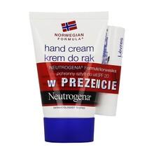 Zestaw Promocyjny Neutrogena, krem do rąk, 50 ml + ochronny sztyft do ust, SPF 20, 4,8 g GRATIS