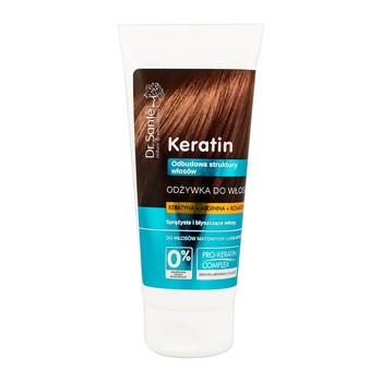 Dr Sante Keratin, odżywka do włosów z keratyną, argininą i kolagenem do włosów matowych i łamliwych, 200 ml