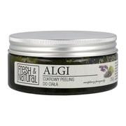 Fresh&Natural, cukrowy peeling do ciała z algami, 250 g