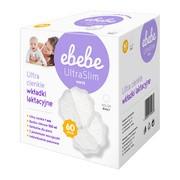 Ebebe, wkładki laktacyjne ultra slim, kolor biały, 60 szt.