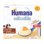Humana Milk Minis Deserek, kaszka z herbatnikiem, 8 m+, 4 x 100 g