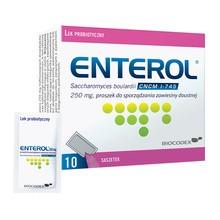 Enterol, 250 mg, proszek do sporządzania zawiesiny doustnej, 10 saszetek