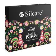 Silcare Flexy Folk Power, zestaw lakierów hybrydowych 3 kolory + 2w1 top/baza, 4 x 4,5 g
