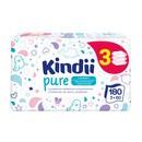 Cleanic Kindii, Pure Sensitive, chusteczki dla niemowląt i dzieci, 3 x 60 szt.