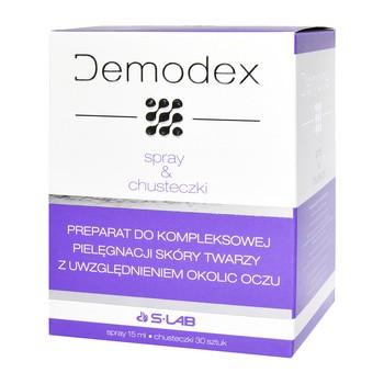 Demodex, spray, 15 ml + chusteczki, 30 szt.