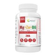 Wish, ZMA, Magnez + Cynk + B6, tabletki, 120 szt.