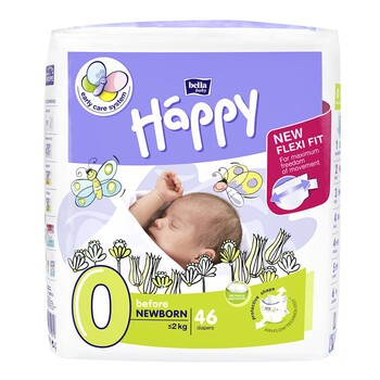 Bella Happy Before Newborn, pieluszki jednorazowe, 46 szt.