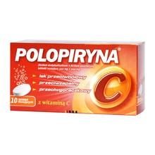 Polopiryna C, tabletki musujące, 10 szt.