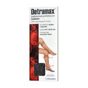 Detramax, podkolanówki uciskowe, czarne, rozmiar 3-4