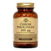 Solgar Chrom Pikolinian 200 µg, kapsułki, 90 szt.