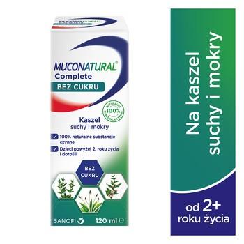 Muconatural Complete bez cukru, syrop, 120 ml