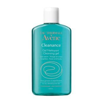 Avene Eau Thermale Cleanance, żel oczyszczający do skóry tłustej z niedoskonałościami, 200 ml