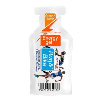 Run&bike energy, żel energetyczny, smak pomarańczowy, 40 g